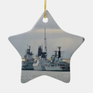 Warships In Portsmouth Ceramic Star Decoration