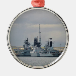 Warships In Portsmouth Christmas Ornament