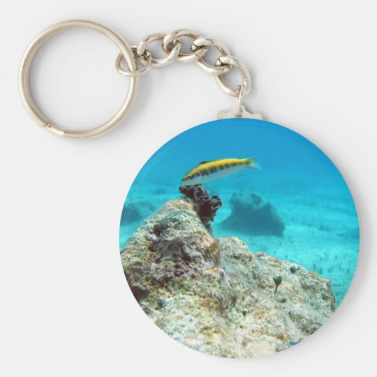 Warsse Deep In The Seas Basic Round Button Key Ring