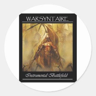 WarSyntaire Instrumental Battlefield Branded items Round Sticker
