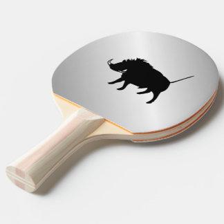Wart Hog Silver Ping Pong Paddle