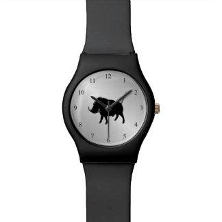Wart Hog Silver Watches