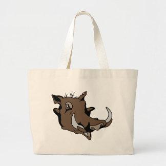 Warthog Head Jumbo Tote Bag