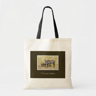 Warthog safari tote bags