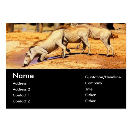 Warthogs Business Cards