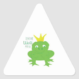 Warts And All Triangle Sticker