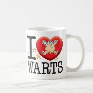 Warts Love Man Basic White Mug