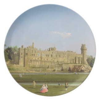 Warwick Castle, c.1748-49 (oil on canvas) Party Plates