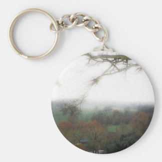 Warwick Castle View Basic Round Button Key Ring
