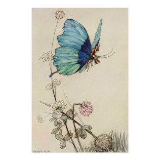 Warwick Goble Butterfly Ride Poster