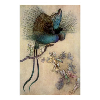 Warwick Goble Fairies And The Bird Of Paradise Poster