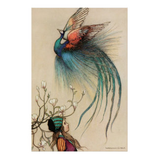Warwick Goble The Girl And The Bird Of Paradise Poster