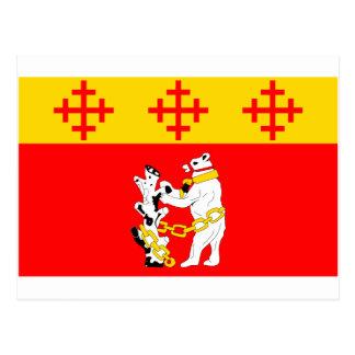 Warwickshire Flag Postcard