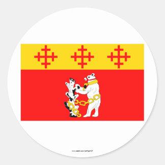 Warwickshire Flag Round Sticker