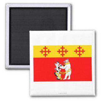Warwickshire Flag Square Magnet