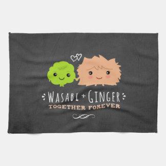 Wasabi and Ginger Together Forever Tea Towel