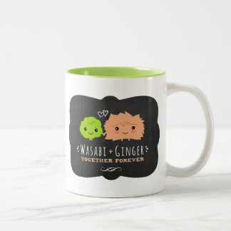 Wasabi and Ginger Together Forever Two-Tone Coffee Mug