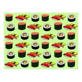 Wasabi Green Sushi Postcard