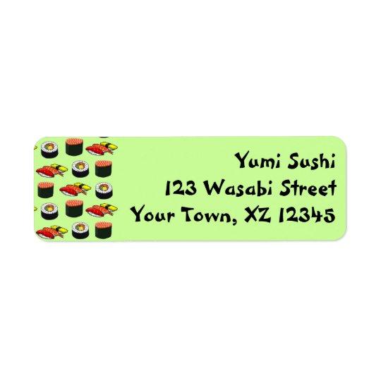 Wasabi Green Sushi Return Address Label