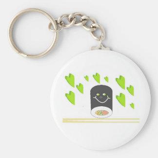 Wasabi My Love Basic Round Button Key Ring