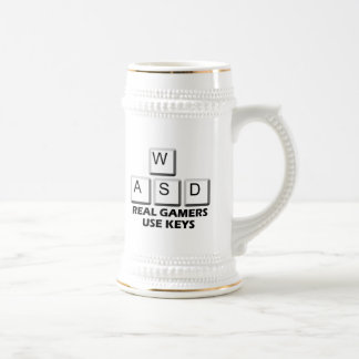 WASD - Real Gamers Use Keys Beer Stein