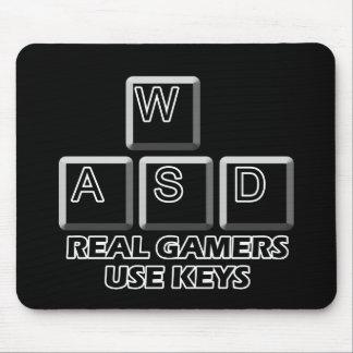 WASD - Real Gamers Use Keys Mouse Mat