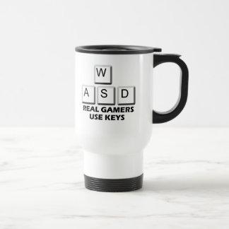 WASD - Real Gamers Use Keys Travel Mug