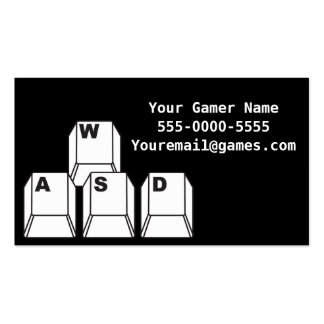 WASD Video Game Gamer Business Cards