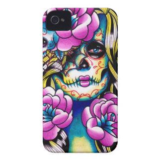 Wash Away Sugar Skull Girl Case-Mate iPhone 4 Cases