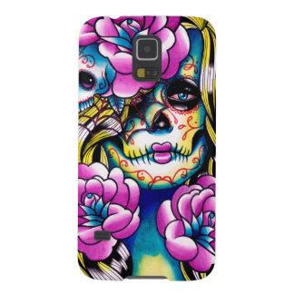 Wash Away Sugar Skull Girl Galaxy S5 Case