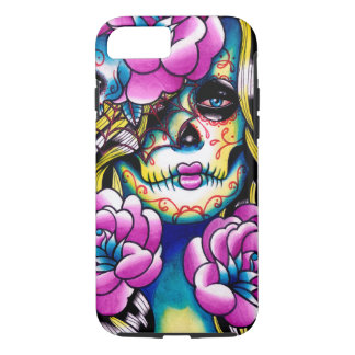 Wash Away Sugar Skull Girl iPhone 7 Case