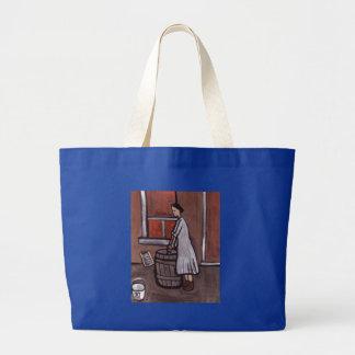 Wash day jumbo tote bag