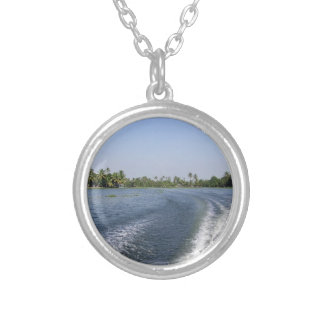 Wash from a boat in a saltwater lagoon pendants