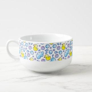 wash pattern soup mug