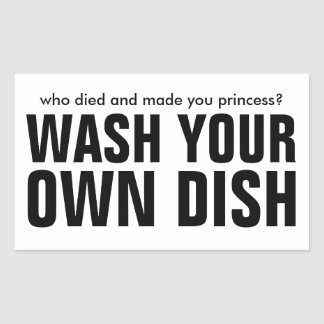 Wash your own dish - add your own text sticker