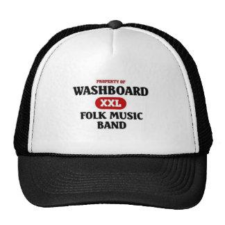 Washboard Folk Music Band Mesh Hats