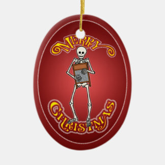 Washboard Skeleton Personalized Christmas Ornament