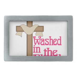Washed In The Blood Rectangular Belt Buckles