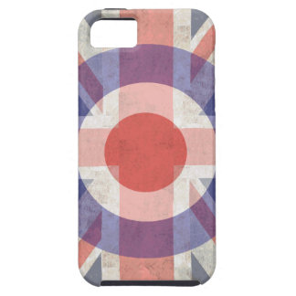Washed Mod Target on aged union jack iPhone 5 Case