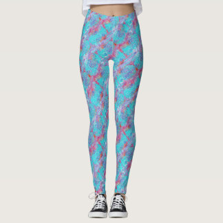 Washed Out Pineaples Patterned Leggings