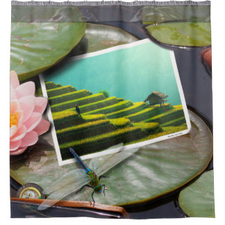 Washed Up Photos- Asian Agriculture Shower Curtain