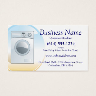 Washer/Appliances Business Card Design 2
