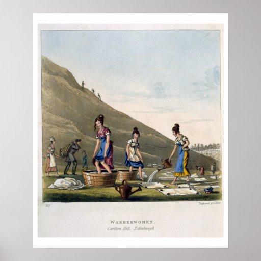 Washerwomen, Calton Hill, Edinburgh, from 'Airy No Print