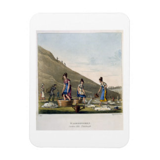 Washerwomen, Calton Hill, Edinburgh, from 'Airy No Rectangular Photo Magnet