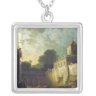 Washerwomen in the Moat of an Italian Villa Necklaces