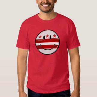 Washhington DC Flag Smiling T Shirts