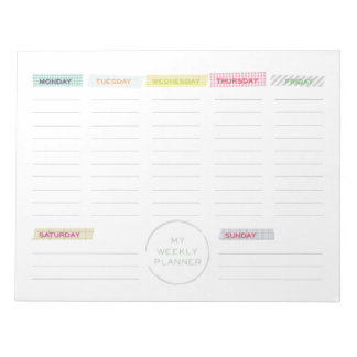 Washi Tape Weekly Planner Memo Note Pad