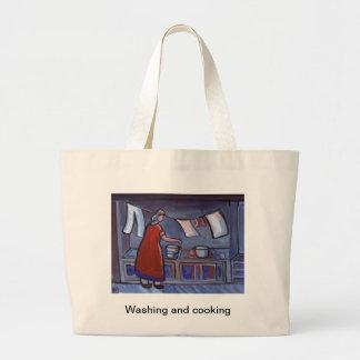 (WASHING AND COOKING) JUMBO TOTE BAG