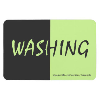 Washing - Dark Gray - w/website address 4x6 Magnet