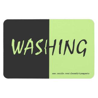 Washing - Dark Gray - w/website address 4x6 Rectangular Photo Magnet